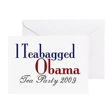 Teabag Obama (Tea Party) Greeting Card