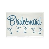 Blue M Martini Bridesmaid Rectangle Magnet