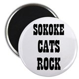 "SOKOKE CATS ROCK 2.25"" Magnet (10 pack)"