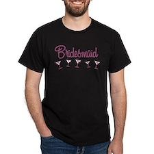 Pink M Martini Bridesmaid T-Shirt