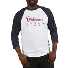 Pink M Martini Bridesmaid Baseball Jersey