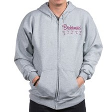 Pink M Martini Bridesmaid Zip Hoodie