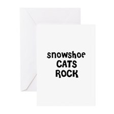 SNOWSHOE CATS ROCK Greeting Cards (Pk of 10)