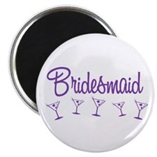 Purple M Martini Bridesmaid Magnet