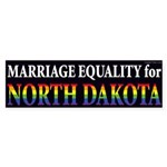 Marriage Equality for North Dakota bumper sticker