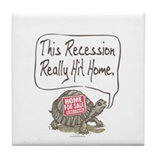 Tortoise Turtle Recession Tile Coaster