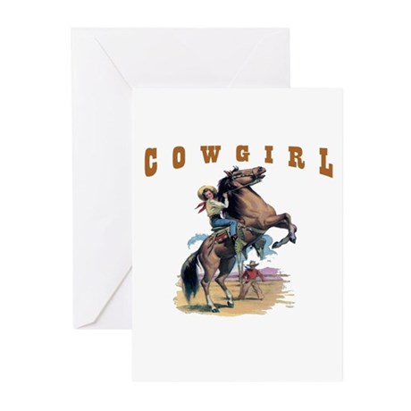 """""""Cowgirl"""" Greeting Cards (Pk of 10)"""