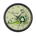 Hawaii Recycle T-Shirts and Gifts Large Wall Clock