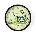 Hawaii Recycle T-Shirts and Gifts Wall Clock