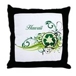 Hawaii Recycle T-Shirts and Gifts Throw Pillow