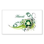 Hawaii Recycle T-Shirts and Gifts Sticker (Rectang