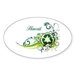 Hawaii Recycle T-Shirts and Gifts Sticker (Oval 10