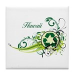 Hawaii Recycle T-Shirts and Gifts Tile Coaster