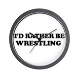 Rather be Wrestling Wall Clock
