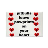 pit bull pawprints Rectangle Magnet