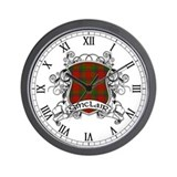 Sinclair Tartan Shield Wall Clock