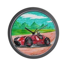Cute Race cars Wall Clock