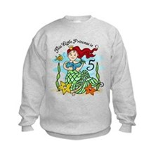 Mermaid Princess 5th Birthday Sweatshirt