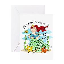 Mermaid Princess 5th Birthday Card