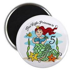 Mermaid Princess 5th Birthday Magnet