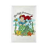 Mermaid Princess 5th Birthday Rectangle Magnet