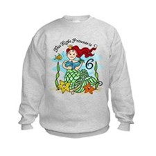 Mermaid Princess 6th Birthday Sweatshirt