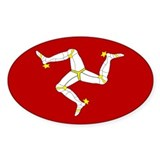 Isle of Man Flag Gear Oval Decal