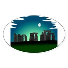 Stonehenge Oval Sticker (10 pk)