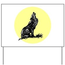 Wolf Moon Yard Sign