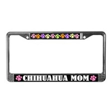 Chihuahua Mom Dog License Plate Frame