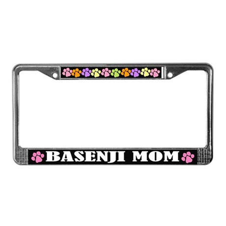 Basenji Mom License Plate Frame