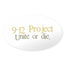 9 12 Project Oval Sticker (10 pk)