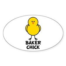 Baker Chick Oval Decal