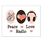 Peace Love Radio Small Poster