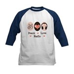 Peace Love Radio Kids Baseball Jersey