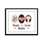 Peace Love Radio Framed Panel Print