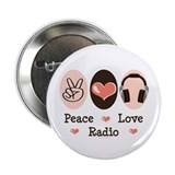 "Peace Love Radio 2.25"" Button (10 pack)"