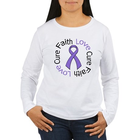 Hodgkins FAITHLOVECURE Women's Long Sleeve T-Shirt