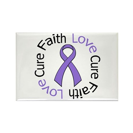 Hodgkins FAITHLOVECURE Rectangle Magnet (100 pack)