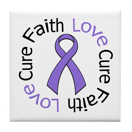 Hodgkins FAITHLOVECURE Tile Coaster