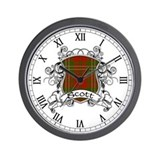 Scott Tartan Shield Wall Clock
