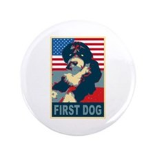 "First Dog BO Obama 3.5"" Button"
