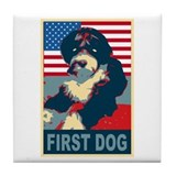 First Dog BO Obama Tile Coaster