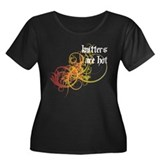 Knitters Are Hot Women's Plus Size Scoop Neck Dark
