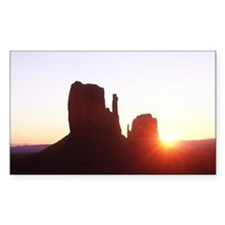 Mitten Buttes Sunrise Rectangle Sticker 50 pk)