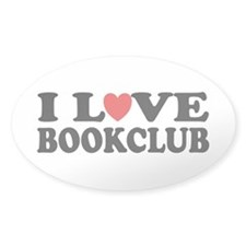 I Love Book Club Oval Decal