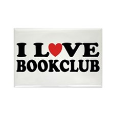 I Love Book Club Rectangle Magnet (10 pack)