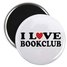 "I Love Book Club 2.25"" Magnet (10 pack)"