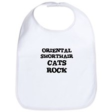 ORIENTAL SHORTHAIR CATS ROCK Bib