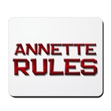 annette rules Mousepad